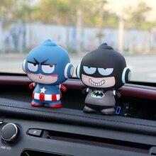 Автомобиль орнамент для Marvel Мститель фигурку модель автомобильной интерьер приборной панели милые украшения куклы игрушечные лошадки