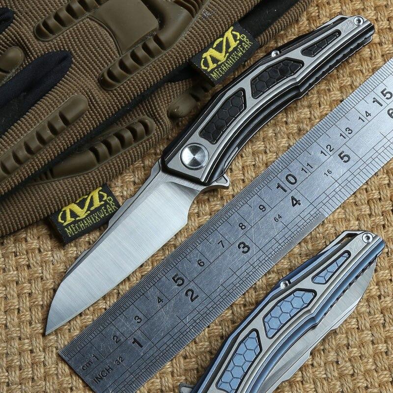 STEDEMON A02 CTS-204P lame Flipper KVT balle brearing pliant couteau titanium camping chasse Survie en plein air couteaux EDC Outil