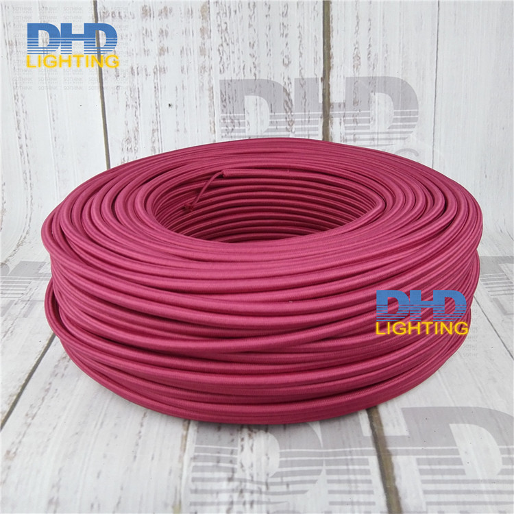 Free shipping Vintage style 3-core Burgundy color fabric wire DIY 3x0.75mm cloth cable wire Braided Retro Lamp Wire cord
