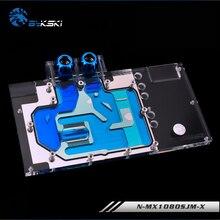 BYKSKI Full Cover Graphics Card Water Block use for Palit/MAXSUN/XENON GTX1080 Super JetStream 8G/ GTX1070TI GameRock 8G RGB