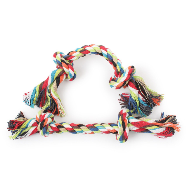 5pcs/pet dog and cat Double knot cotton rope weaving,Pet dog teeth toys for 16cm Cleansing pet teeth
