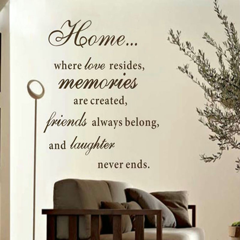 Us 9 27 6 Off Large Size 80x60cm Free Shipping Home Love Resides Family Quotes Wall Stickers Decoration Vinyl Decor Q0171l In