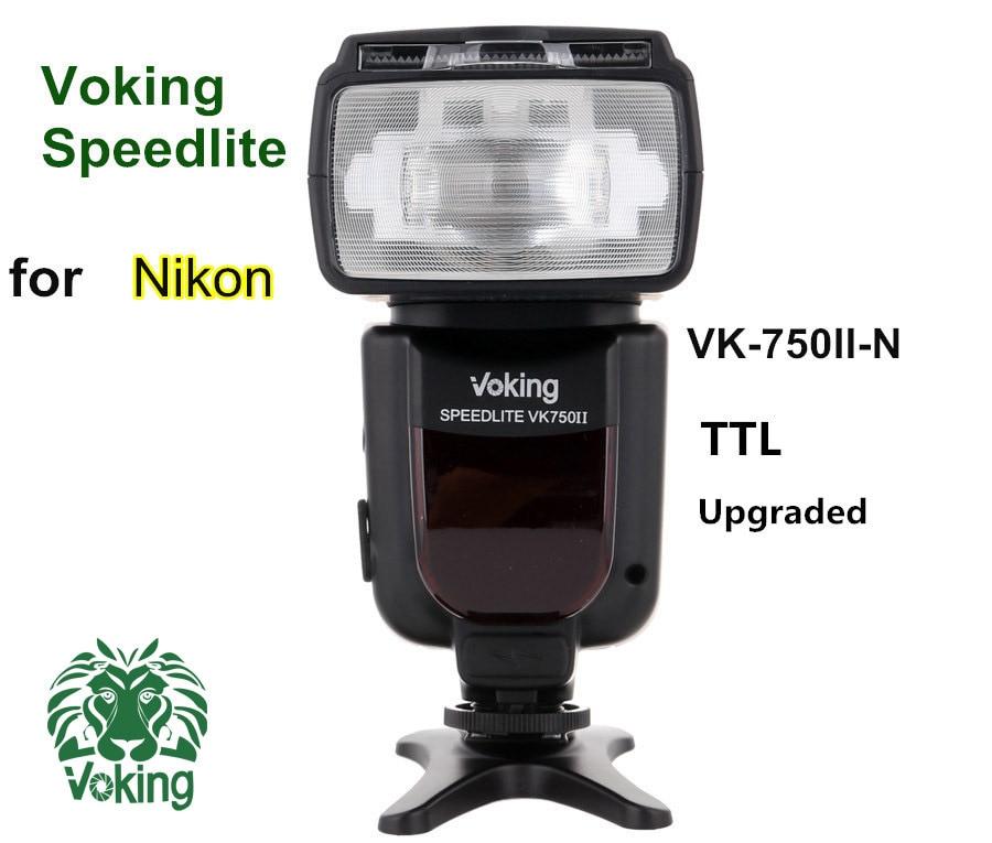 Voking TTL Flash Speedlite VK750II-N for Nikon D60 D90 D3000 D3100 D3200 D5000 D5100 D5200 D7000 D7100 Digital SLR Cameras quadral quintas 5000 ii black