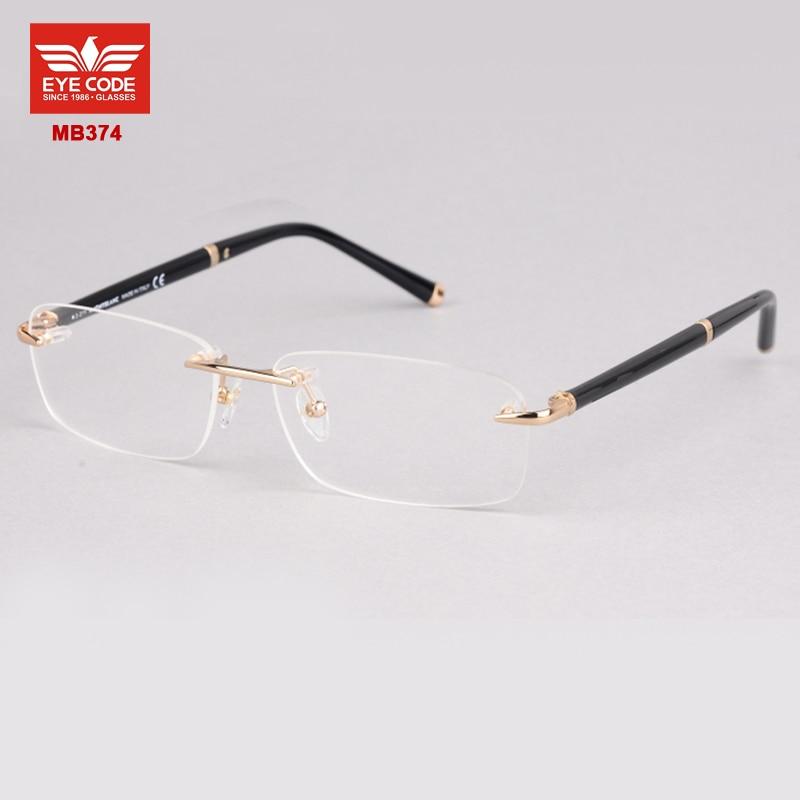 designer rimless glasses  Aliexpress.com : Buy New Fashion MB374 Brand rimless eyeglasses ...