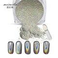 1 g/caja Nail Polvo Láser Holográfico Brillante Brillo Del Clavo Del Polvo Del Arco Iris Cromo Pigmento Pigmentos de Manicura Nail Art Decoraciones