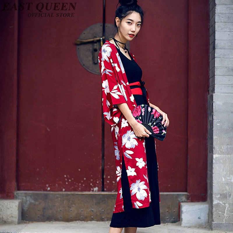 cef9fbc1c ... Japanese kimono traditional dress cardigan female yukata women haori  Japan geisha costume obi kimonos woman 2018 ...