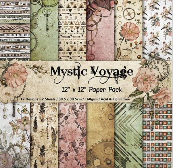 12 pouces Mystic Voyage modèles cadeau emballage livre kit bricolage Scrapbooking papier bricolage carte faisant origami