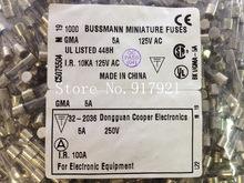 [ZOB] Соединенные Штаты Bussmann BK1/GMA-5A 5A125V 250V предохранители 5X20 предохранитель-200 шт./лот