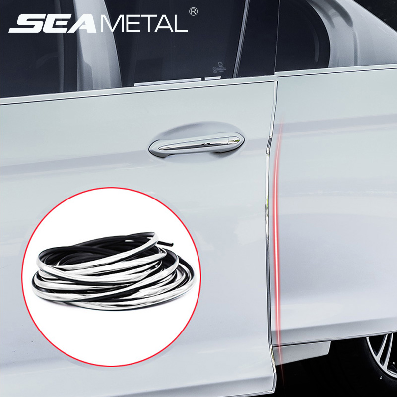 4 UNIVERSAL CAR DOORGUARD PROTECTOR  CLEAR 2 PACK  4 FT TOTAL LENGTH X4