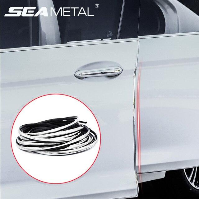 רכב דלת מגן רצועת מכוניות Mouldings סטיילינג גומי חותם משמר קצה הגנה אוטומטי דלת איטום רצועות אבזרים