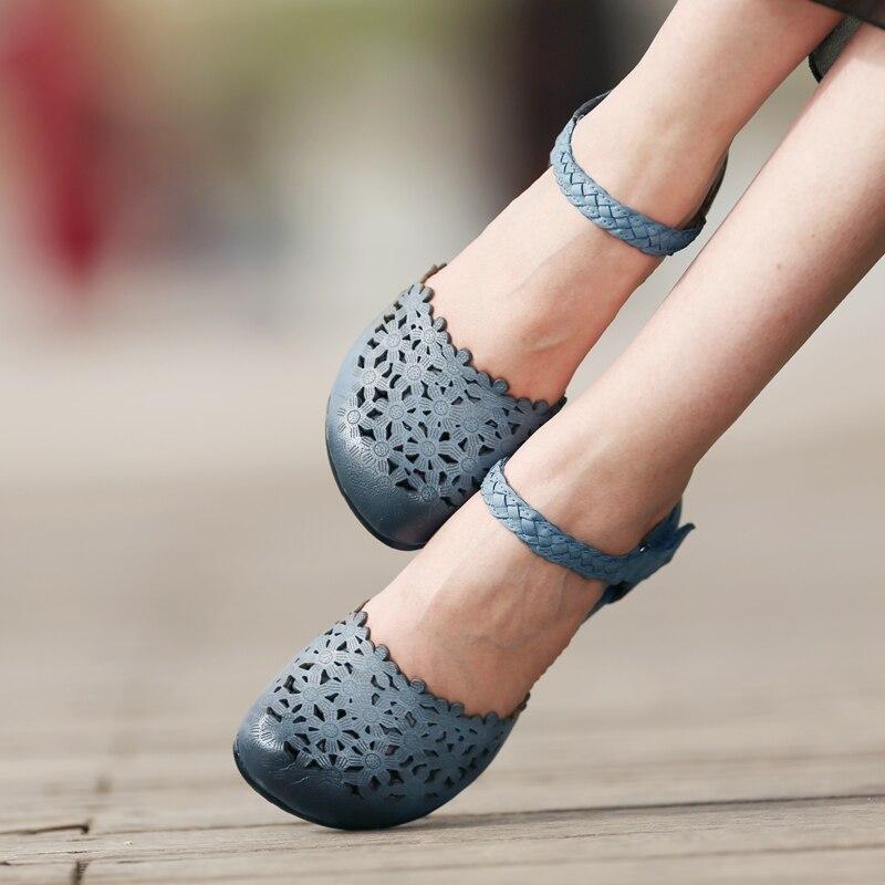 Main Sandales Cheville Tayunxing Chaussures En Creux Femmes Sangle Cuir La Véritable 6 Confort K308 À CQdhrtosxB