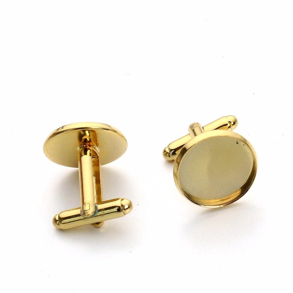 10 шт модные запонки золотого цвета настройки Камеи кабошон