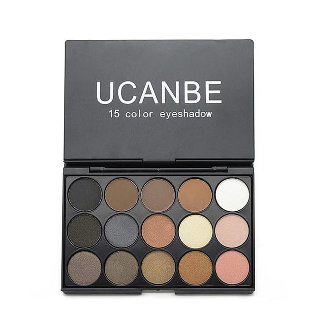 UCANBE Marca 5 Diferentes de moda de Nova 15 Terra Cor Matte Pigment Eyeshadow Palette Cosméticos Maquiagem Sombra de Olho para as mulheres