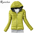 Ryanzhan Spring New 2017 Hot Selling Women's New Fashion Hooded Cotton Padded Coat Slim Thin Long Sleeve Jacket Woman Outerwear