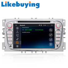 """Likebuying Pure Kitkat 7"""" Car Android 2 Din DVD Radio Stereo Navi Quad Core 1024*600 16G GPS  for Ford Focus 3 Mondeo Cmax Smax"""