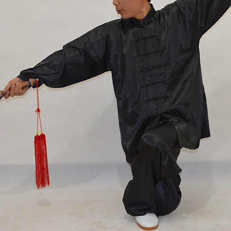 ユニセックス武術の衣類武道フェイクカンフースーツ男性太極拳制服太極拳衣装詠春拳武術パフォーマンス服