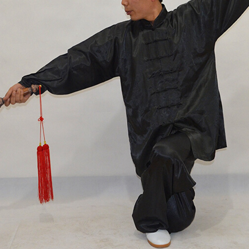 Unisex Wushu Suits Faux Kung Fu Suit Men Martial Arts Uniform Middle Age Taijiquan Costume Companies