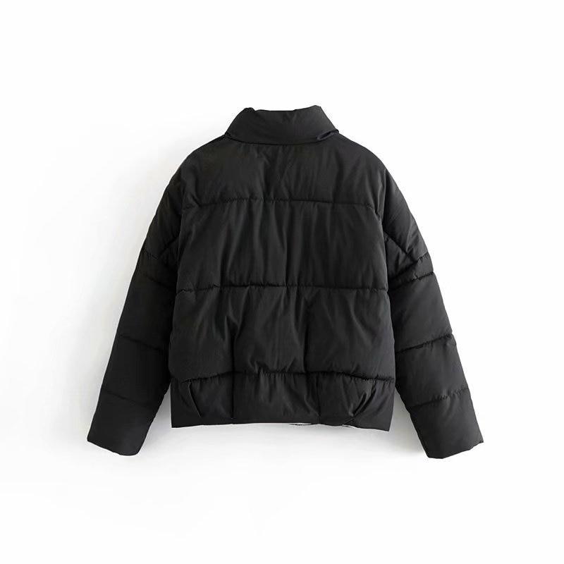 Nouvelle Confortable Hiver Chaud blanc À Femmes En Et Noir Manteau Manches Court Mode Lâche Polyvalent Longues Coton De R8Ydxr8qw