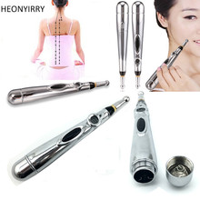 Stylo d'acupuncture électronique Méridiens électriques Laser Machine d'acupuncture Magnet Instrument de thérapie Meridian Energy Pen masseur