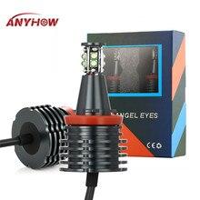 ANYHOW 2 шт ангельские глазки светодиодный противотуманный светильник 80 Вт H8 6500K для BMW E90 E92 E82 E87 E60 E70 X5 X6 Halo светильник лампа автомобильный головной светильник