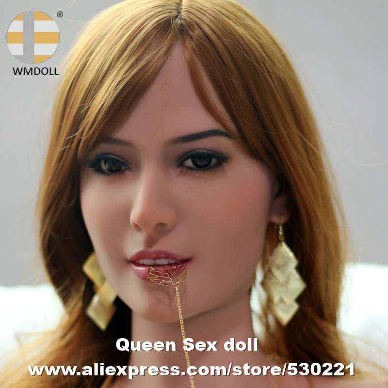 WMDOLL Top quality 47 silicone adult dolls head, love doll heads for sexy dolls, oral sex toys for men top quality oral sex doll head for japanese realistic dolls realdoll heads adult sex toys