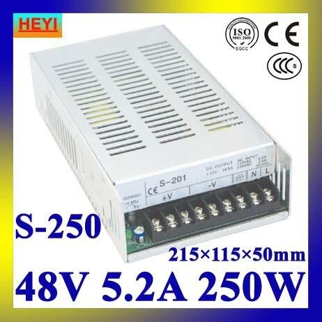 single output switching power supply 48V 5.2A 100~120V/200~240V AC input LED power supply 250W led power supply 48v 21a 100 120v 200 240v ac input single output switching power supply 1000w 48v transformer
