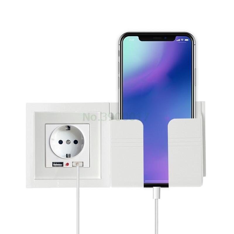 Wall Socket Mobile Phone Holder Smartphone Charging Stand Rack Holders Plug Socket