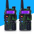 2 unids/lote Camuflaje BAOFENG UV-5R de Banda Dual VHF UHF Walkie Talkie de Mano Radio de Dos Vías Max 5 W Jamón radio