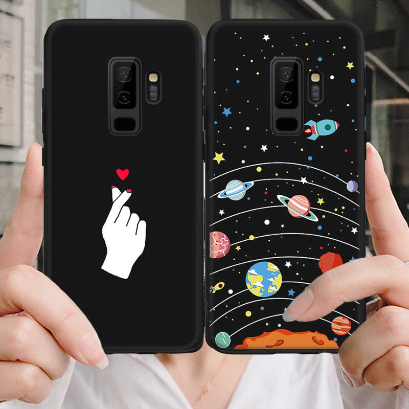 For Samsung Galaxy S9 S8 A6 A8 Plus 2018 Case Cover Painted Protective Soft TPU Fundas Case For Samsung A5 2017 Note 8 Note 9