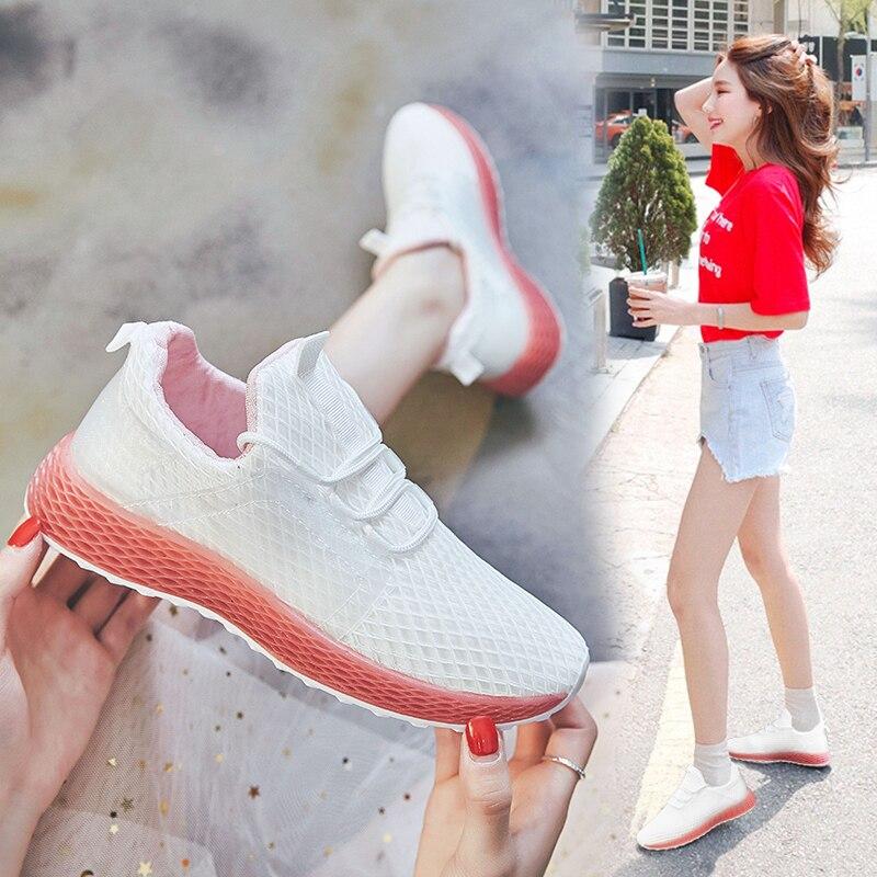 Liren 2019 Summer Fashion Comfortable Casual Luxury Shoes Women Designers Lady Sneakers Shoes 2019 Fashion High Heels Platform in Women 39 s Vulcanize Shoes from Shoes