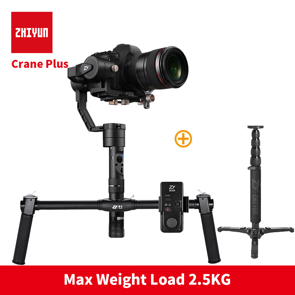 ZHIYUN Crane Plus+ DSLR Video Handheld 3-Axis Gimbal 2.5KG bear 3 axis camera gimbal steadicam for Nikon Canon цена