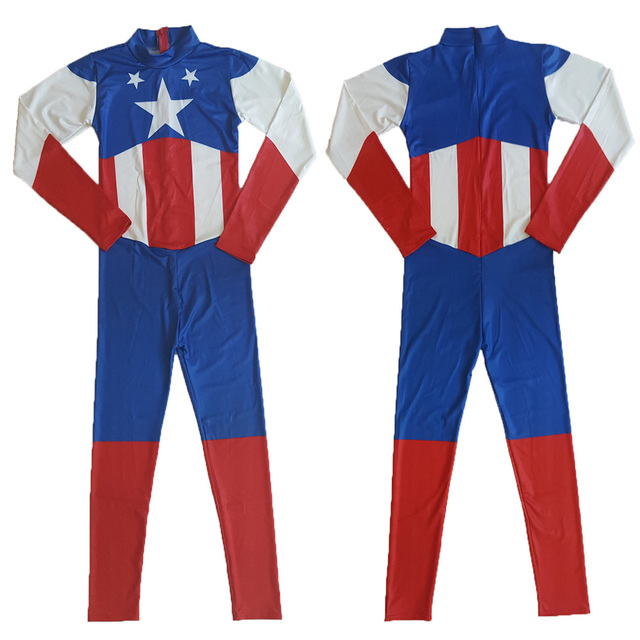 Lady Captain America Halloween Costume