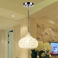 Ew E12 Single 1 Light Wine Cup Shape Design Modern Crystal Mini Chandeliers N4025