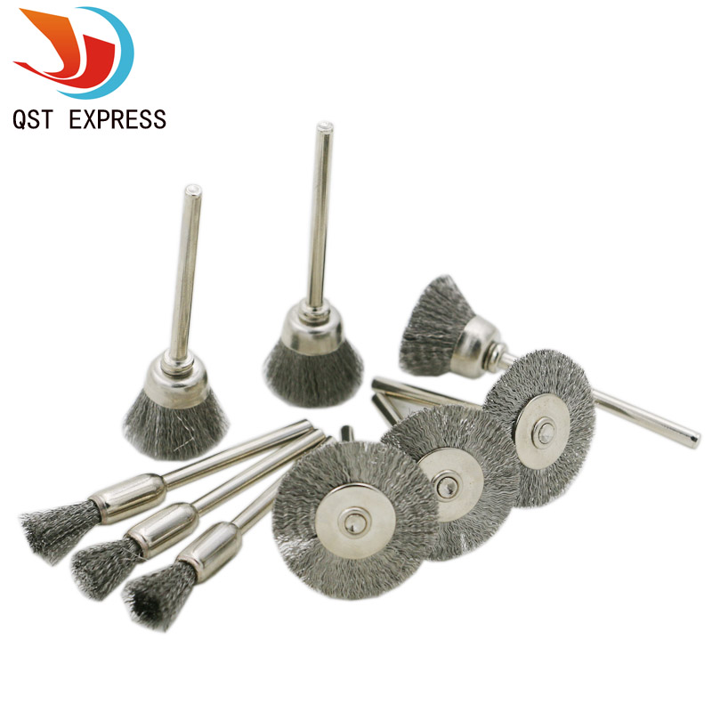 9pcs Steel Brush Qstexpress Wire Wheel Brushes Die Grinder
