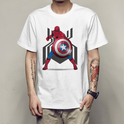CostumeBuy Spider-man Costume T Shirt Spider Avengers Minions Captain America Iron Man Tee Shirts Men Modal Hip Hop Tees Clothes