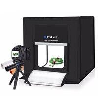 PULUZ 40*40cm Mini LED Photo Studio Softbox Photography Soft Box EU Plug LED Photo Box Lighting Studio Shooting Tent Box Kit