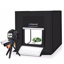 PULUZ 40*40cm Mini LED fotoğraf stüdyosu Softbox fotoğrafçılık yumuşak kutu ab tak LED fotoğraf kutusu aydınlatma stüdyosu çekim çadır kutusu kiti
