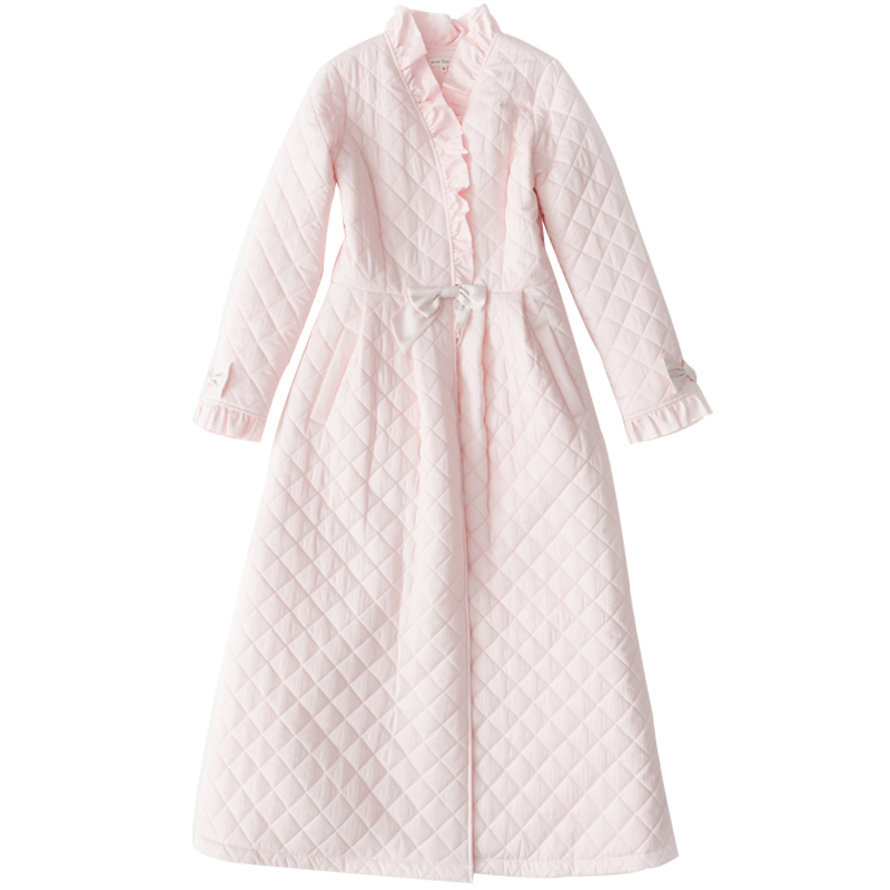 Image 5 - Winter Robe Sleepwear Ladies Cotton Long Robe Women Vintage Sleepwear Women Sleep Homewear Ware Nightgown Robes High quality-in Robes from Underwear & Sleepwears on AliExpress