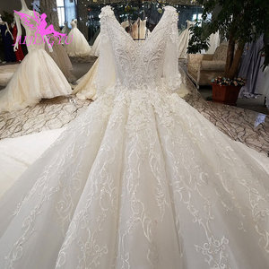 Image 3 - AIJINGYU תוצרת טורקיה מוסלמי כלה שמלת אפריקאי שמלות הטוב ביותר חורף בציר מברשת שמלות רוז יפה שמלות כלה