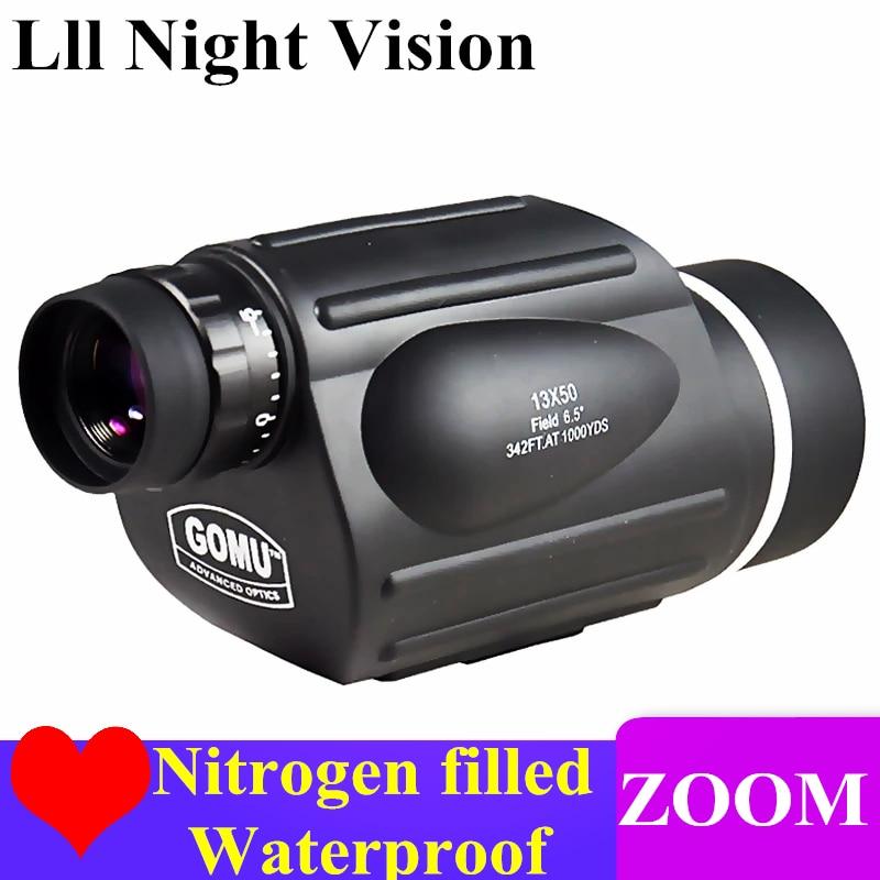 GOMU HD 10 30X50 Zoom Monocular Rangefinder Bird Watch Nitrogen Waterproof Telescope Binoculars spotting scope Hunting