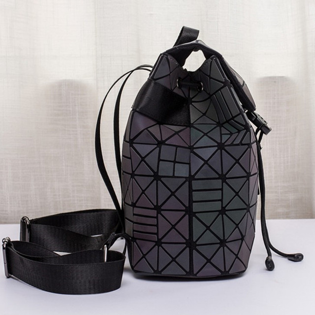Luminous Backpack stitching Lattice Bag Men Women Backpack for Travel girl School Bag for Student's Backpack Hologram sac a dos 3
