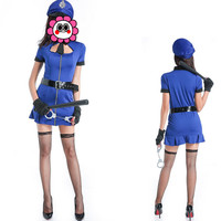 Abbille Halloween Role Playing Cop Costume Sexy Cop Outfit Ladies Cosplay Sexy Erotic Lingerie Police Costumes