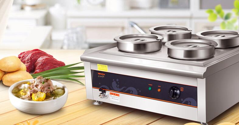 stainless steel warm keeping soup stove machine electric 28l 4pot heat stove chinese furnace for salein hot plates from home improvement on