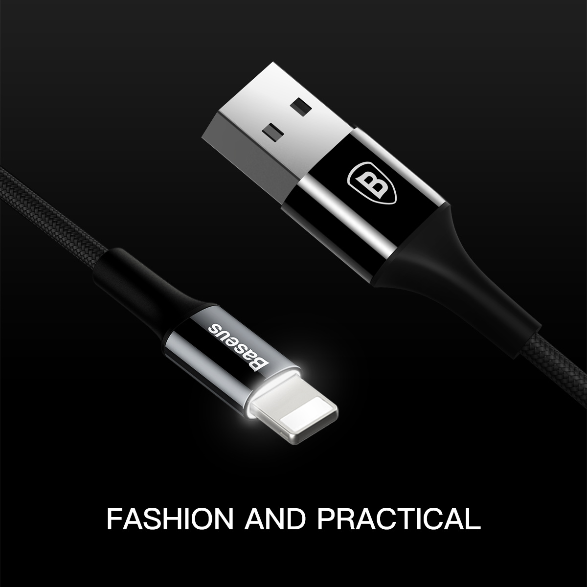 Red 8-pin Lighting cable with changing LED Lights for tablet Air Air 2 and mini