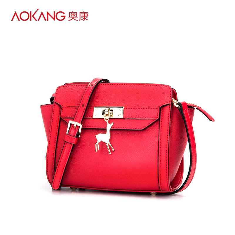 Aokang Spring New Arrival Metal Lock Genuine Leather Women Flap Bag Cross-body Bag Fresh Famous Brand Design Clutch Bags lcd digital humidity and temperature meter gauge type k thermocouple sensor probe 2 in 1 measurement thermometer 10degc 50 degc