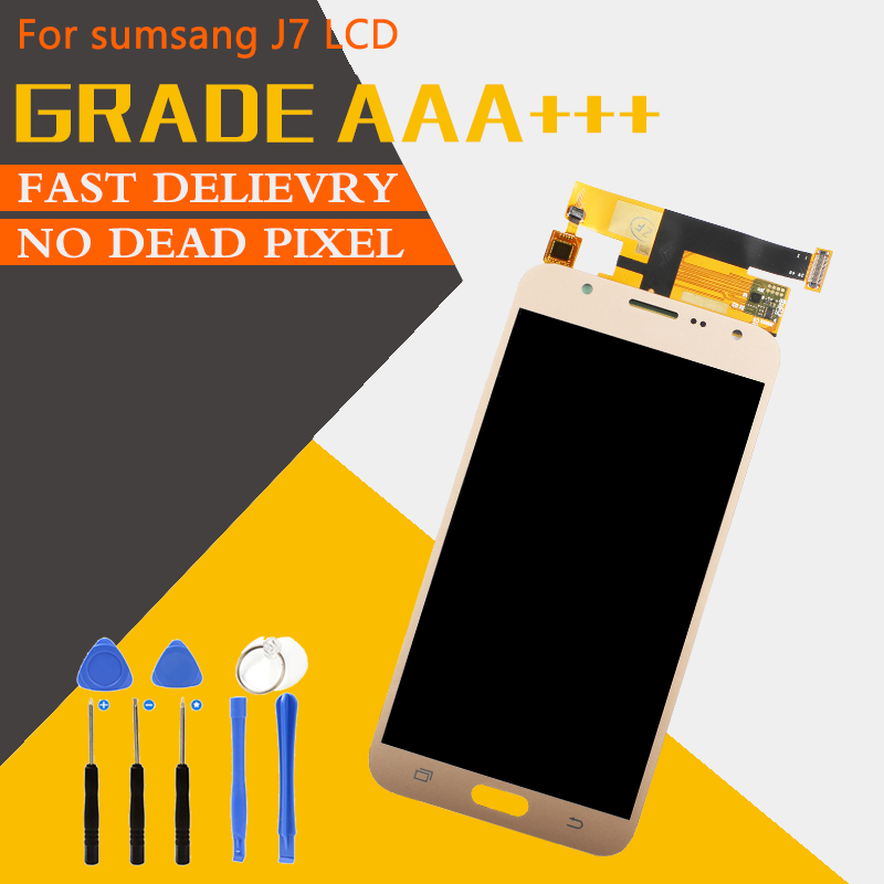 Touch Screen Grade AAA+++ For Samsung Galaxy J7 2015 J700 LCD Replacement Screen Digitizer Assembly Display No Dead Pixel