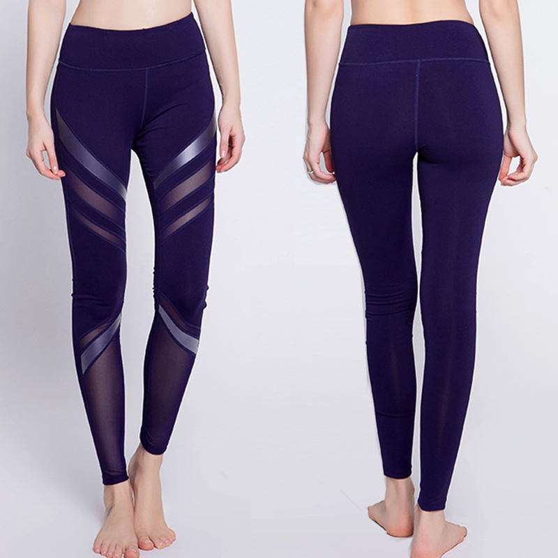 BINAND For Female Sport Pants High-end PU  Pants Sexy Push Up Hip Yoga Pants High Waist  Running Fitness Stretch Quick Rry Pants