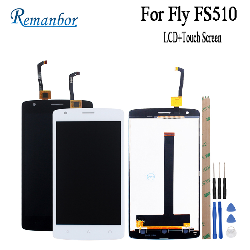 Remanbor For Fly FS510 LCD Display and Touch Screen Assembly Repair Parts For Fly FS510 FS 510 Nimbus 12 With Tools And Adhesive