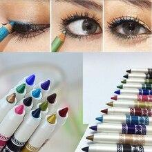 12 unids/set Liner Sombra de Ojos Glitter Eyeliner Lápiz de Ceja Impermeable Lápiz Delineador de Ojos Sombra de Ojos Pen Set 2HM16