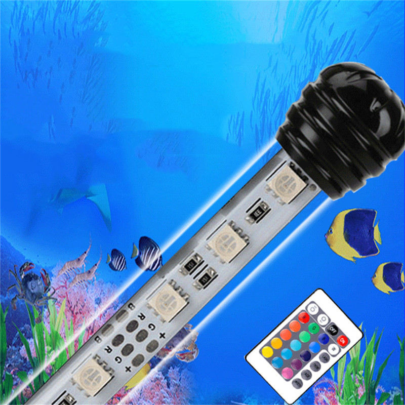 Logical Led Aquarium Underwater Light Ip68 Under Water Light 19cm/29cm/39cm/49cm Rgb White Warmwhite Led Fishing Light Waterproof Orders Are Welcome. Led Lamps